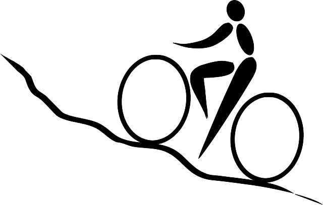 Cycling Biking Uphill 183 Free Vector Graphic On Pixabay