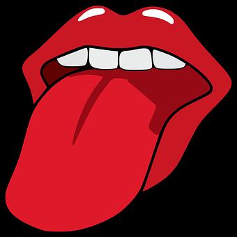 口, オープン, 女性, 舌, 歯, クローズアップ, 式, 血まみれの, 唇