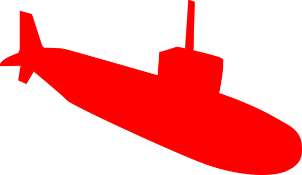 Submarine U-Boat Boat Ship Underwater Red