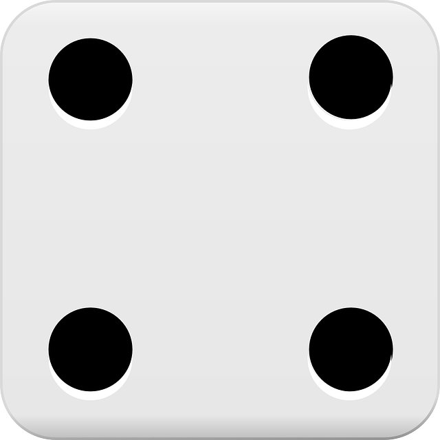 Dice Four Dots 183 Free Vector Graphic On Pixabay