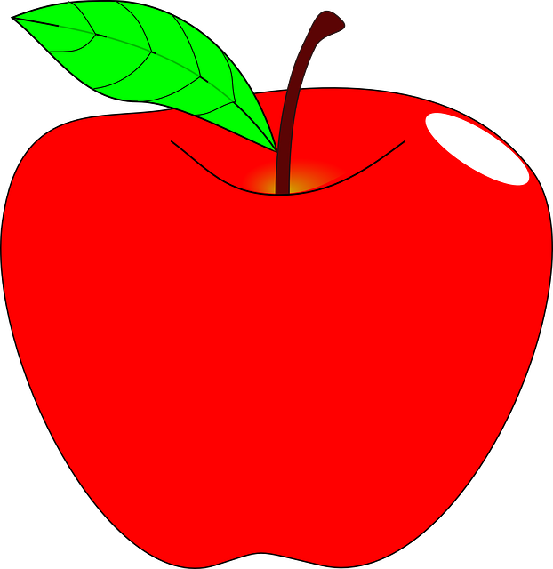 apple red ripe  u00b7 free vector graphic on pixabay apple clip art black and white apple clip art free images