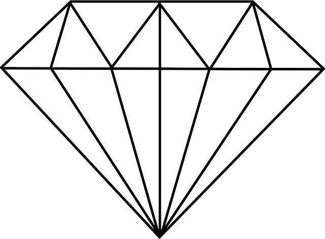 Drawing Lines With Svg : Free vector graphic diamond cut polished jewelry