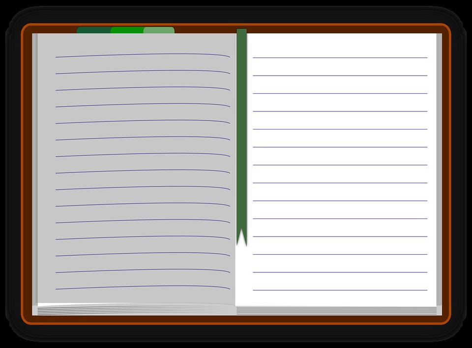 ノート, 日記, 論文, 空欄, 支配, マーカー, ブックマーク, 主催者, 個人的, カレンダー, 仕事