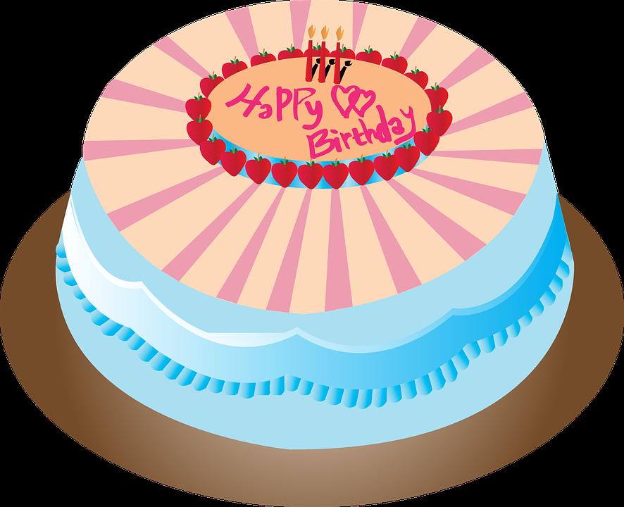 Cake Birthday Happy Free Vector Graphic On Pixabay