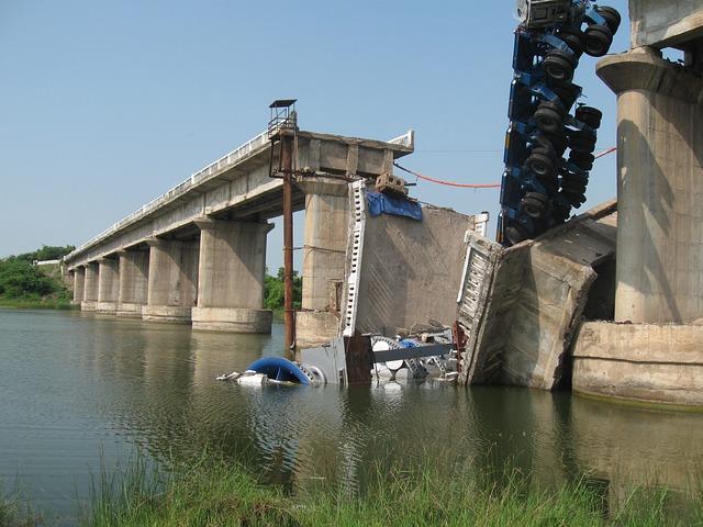 free photo bridge collapse damage free image on