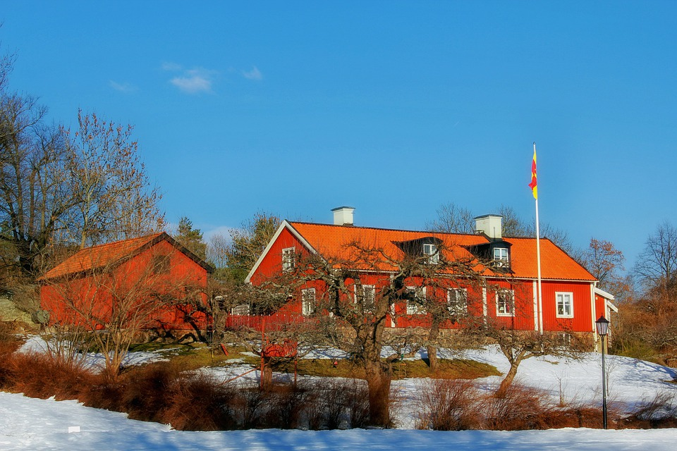 Sweden Farm Rural Barn Buildings Architecture
