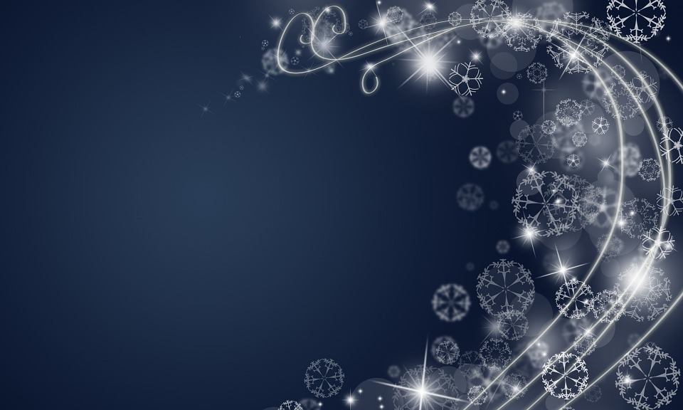 Christmas Xmas X Mas Snow Blue Background Winter