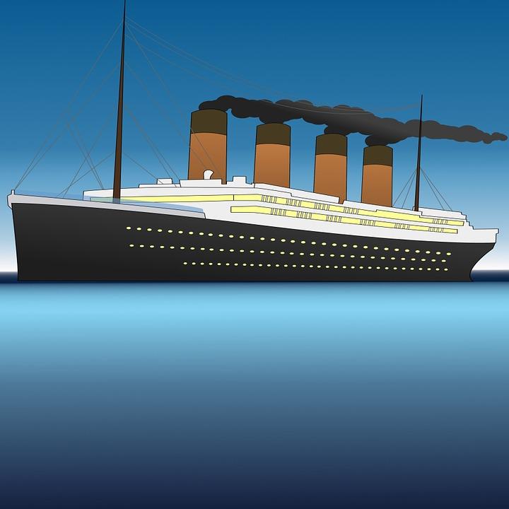Free Illustration Titanic Sea Water Wallpaper Free