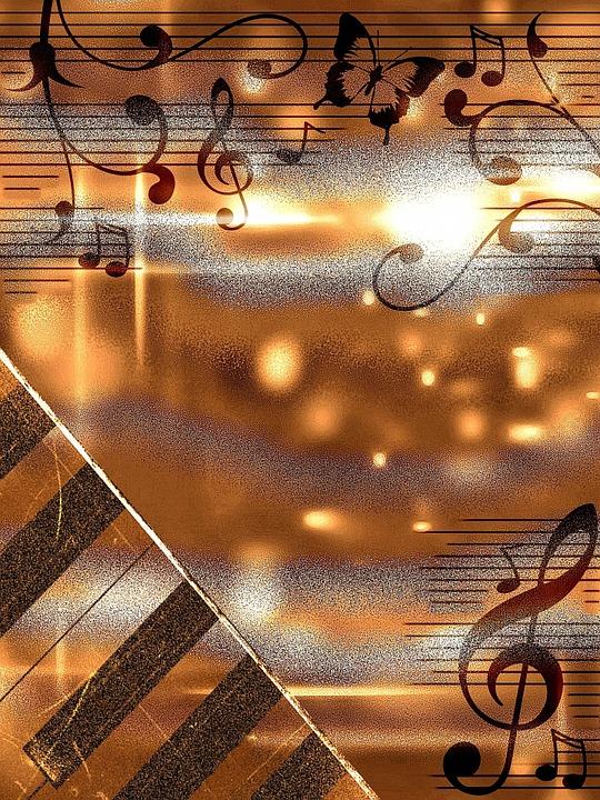 Illustrazione gratis sfondo spartiti musicali antico for Semplice creatore di piano gratuito