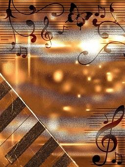 Background Sheet Music Antique Sepia