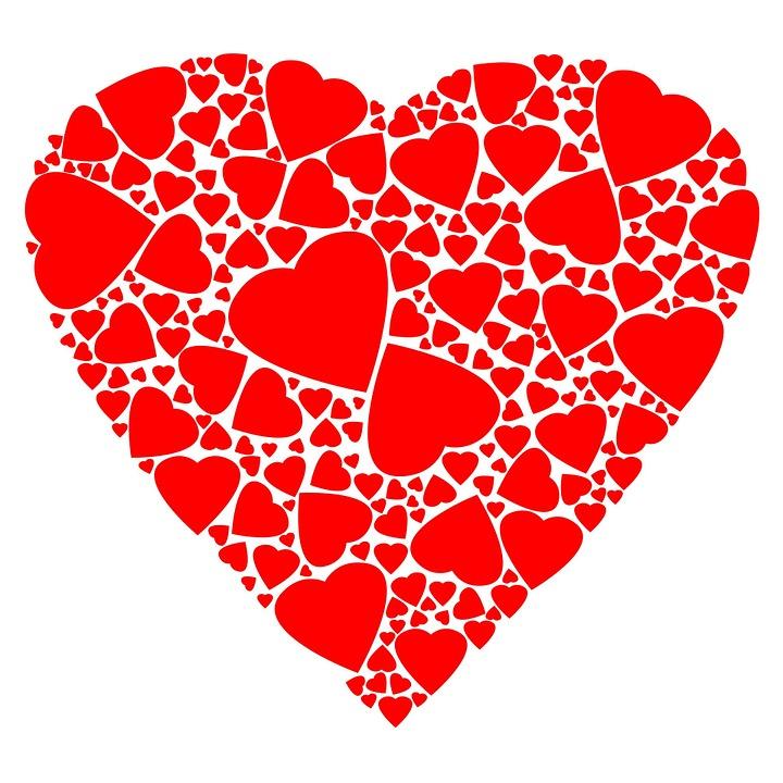 Corazón Rojo Contorno · Imagen gratis en Pixabay