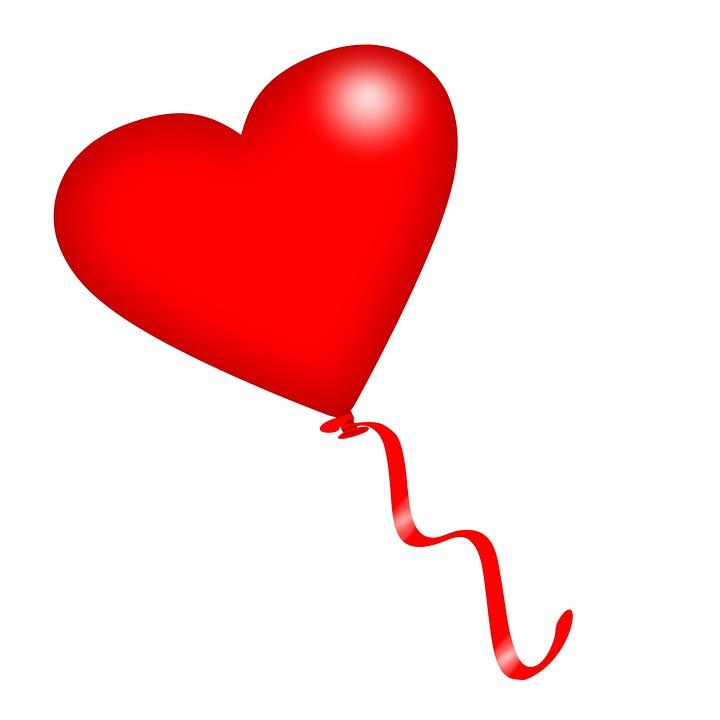 free illustration: heart, red, balloon, ribbon - free image on, Ideas