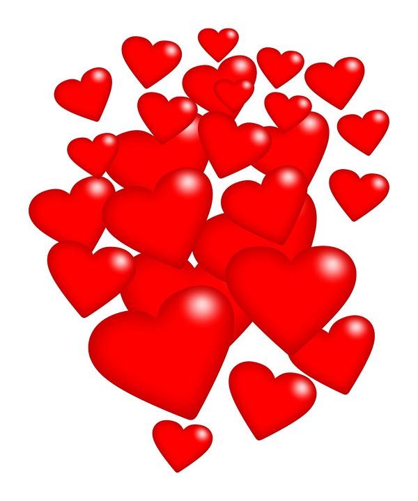 Illustration gratuite coeur coeurs red saint valentin - Image st valentin gratuite ...