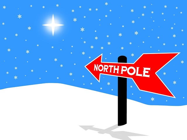 free illustration north pole sign christmas free