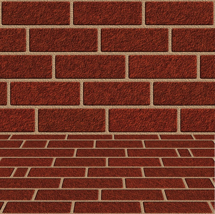 Red Brick Floor Wall Perspective Stone Texture