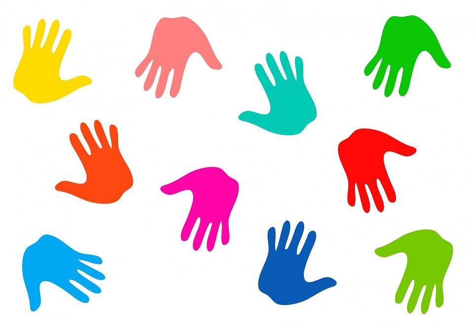 hands handprints hand prints kids colours anatomy - Prints For Kids