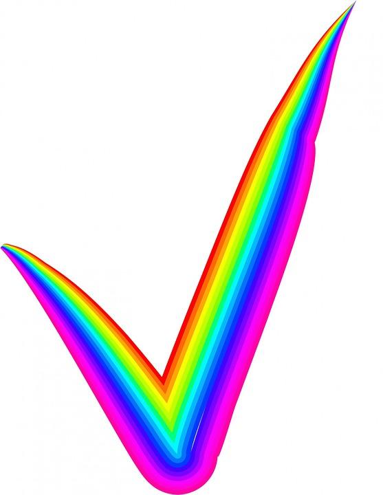 rainbow check mark 183 free image on pixabay