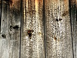 wooden, board, knots