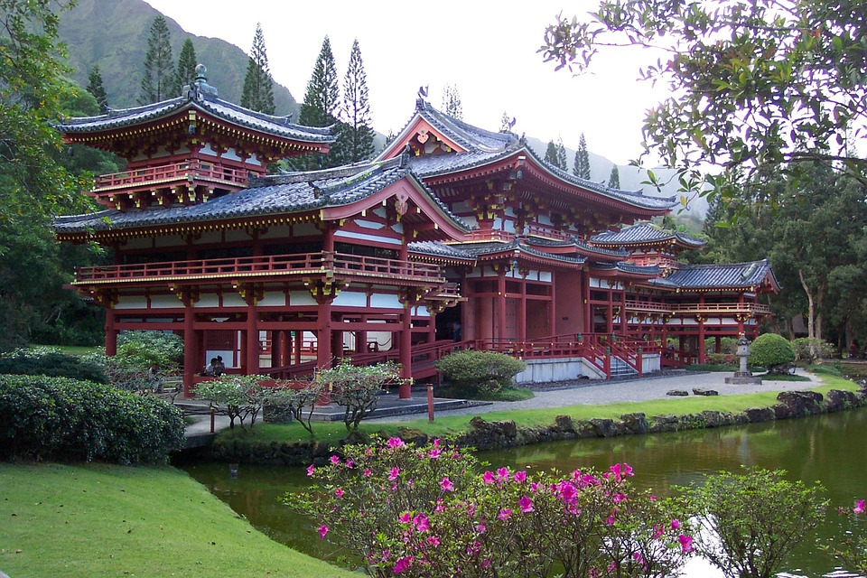 Byodo In Temple Oahu Asian Chinese Culture