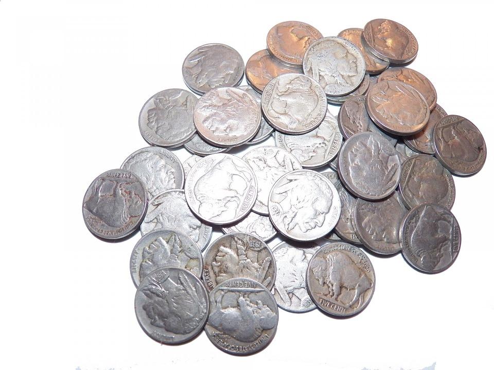 background of buffalo nickel