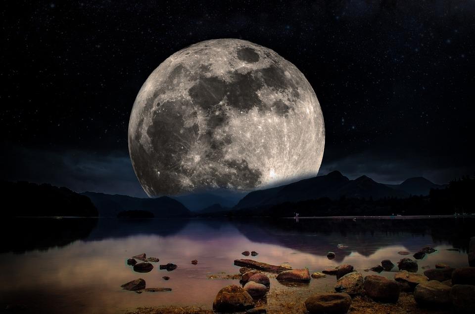 Foto Gratis: Paisaje, Noche, Luna, Cielo