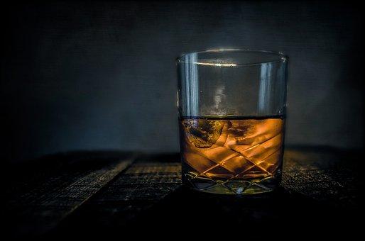ウイスキー, バー, アルコール, ガラス, スコッチ, ドリンク, ブルボン
