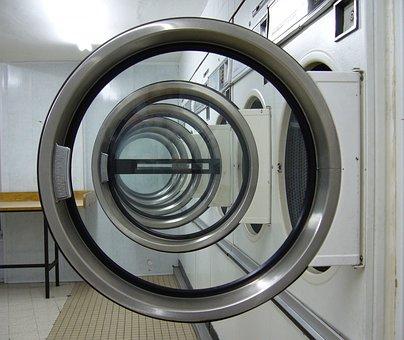 Laundromat, Circles, Laundry Machine
