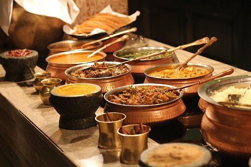 Buffet Indian Food Spices Lunch Restaurant