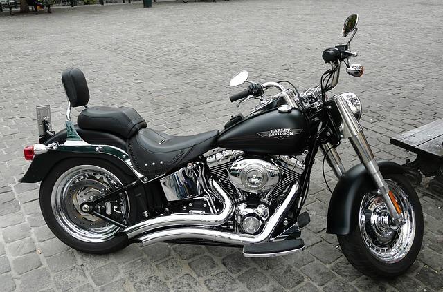 Free Photo Harley Davidson Fatboy Parked