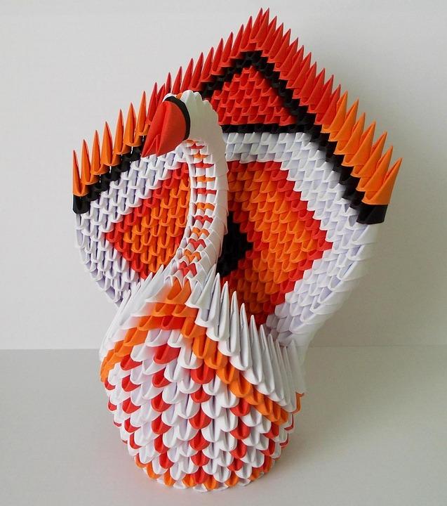 Origami Schwan Papier Kostenloses Foto Auf Pixabay