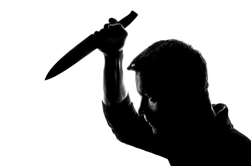 人, ナイフ, 刺し, 刺す, 殺す, 殺人事件, 男, 殺人者, 分離, ダウン, 悪質です, キラー