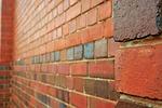 bricks, red, rows