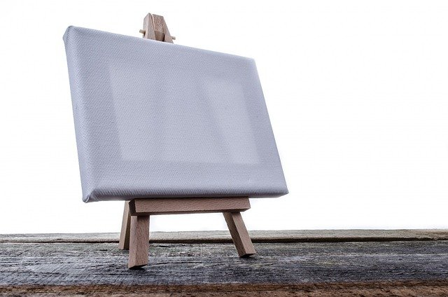 Paintings, Stand, Artist, Isolated, Billboard, White