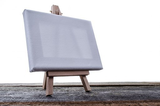 Paintings, Stand, Artist, Isolated