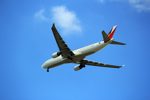 飛行機, エアバス, フライ, 重力, 翼, フィリピン航空, 商業, 雲, 空