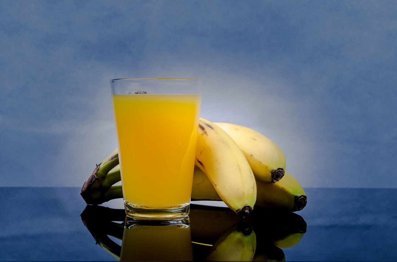 Mango and Banana Juice