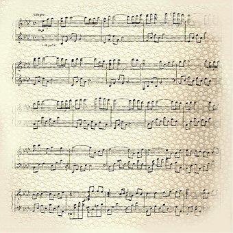 Music, Paper, Background, Design