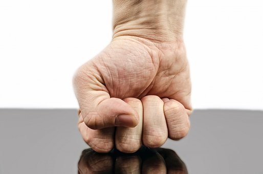 Punch Fist Hand Strength Isolated Human Fi