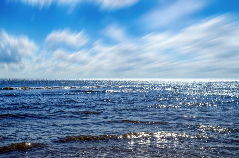 Océan, Ciel, Mer, Horizon, En Plein Air, Claire, Nulle