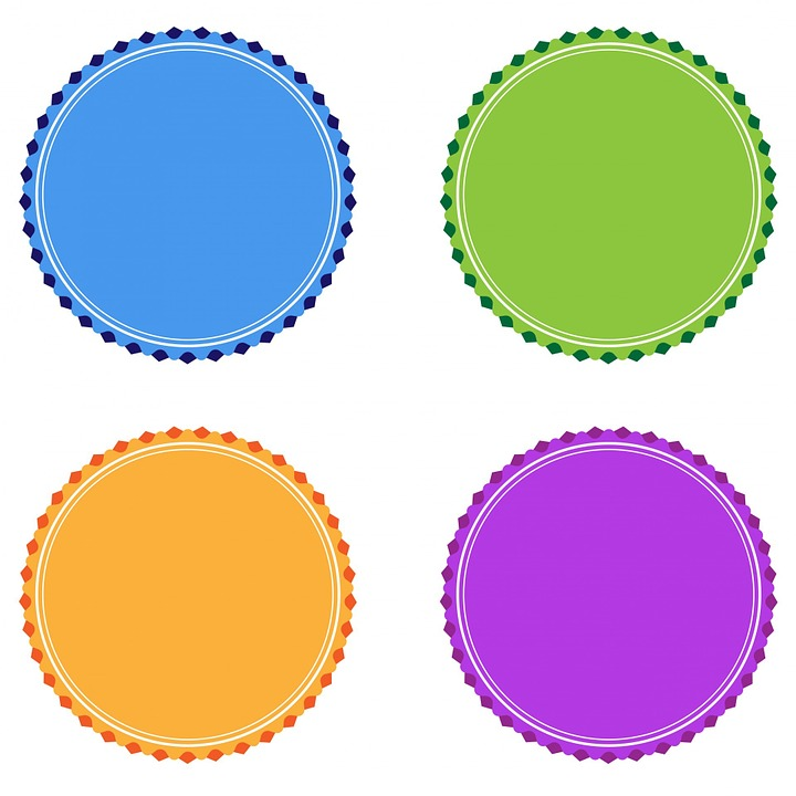 Free illustration: Badge, Badges, Orange, Purple - Free ...