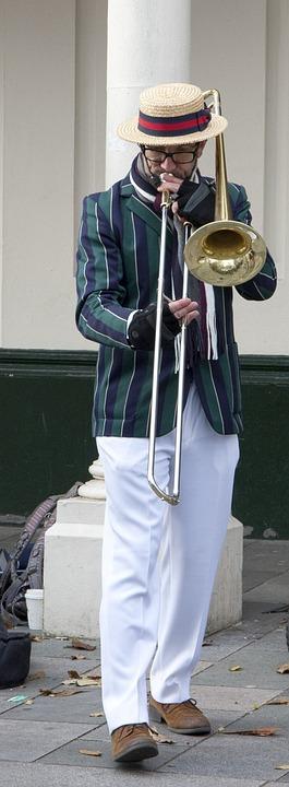 Musician, Street, Street Musician, Player, Playing