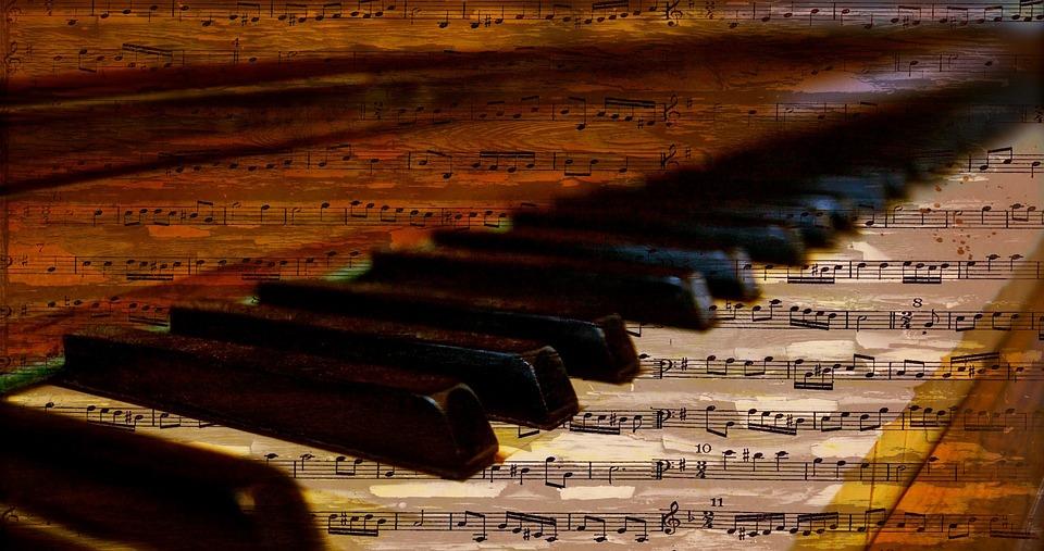 Piano, Piano Keys, Notes, Music, Sheet Music