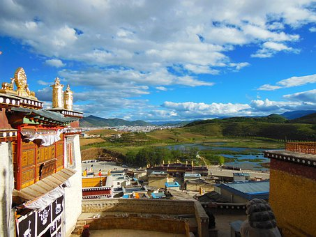 Shangri La, Tibet, China, Town, Village