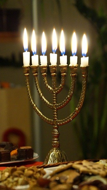 Free Photo Menorah Candles Light Burning Free Image