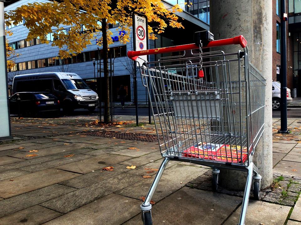 ショッピング カート, 市, 買い物用手押し車, 3 分の 2 のルール, ショッピングカート, ショッピング