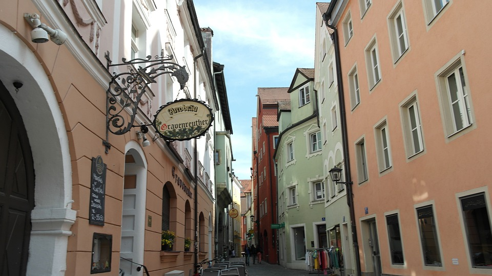 Regensburg, Östra Bayern, Bayern, Tyskland, Arkitektur
