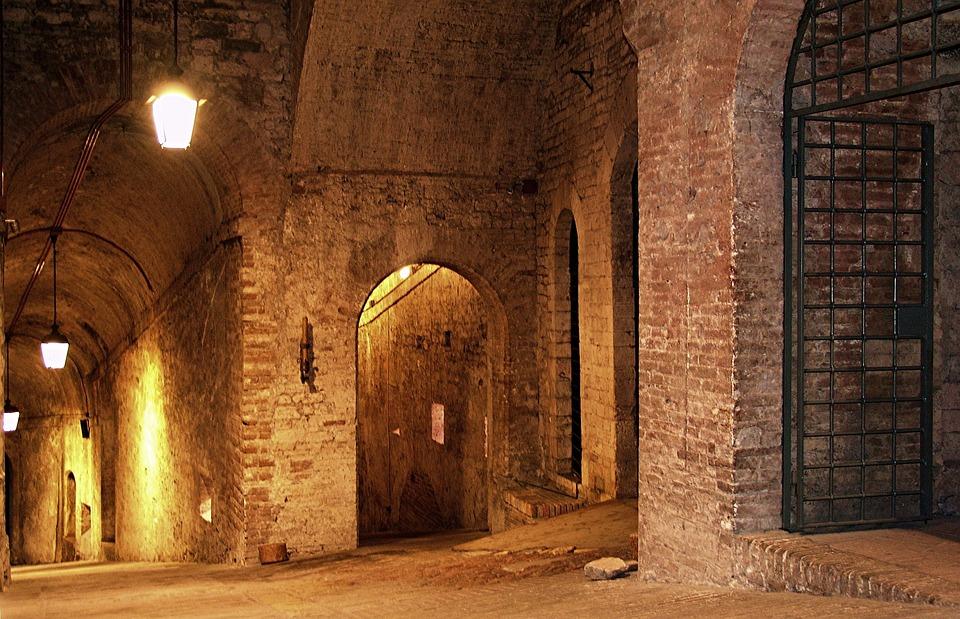 Italia, Perugia, Fortaleza, Bóveda, Dungeon