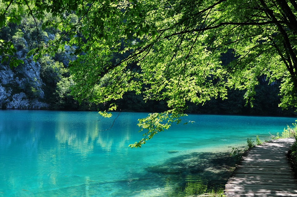 Plitvice Lakes, Croatia, Water, Green, Park, Lake