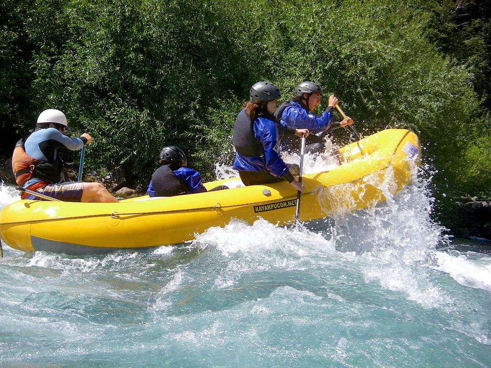 Rafting, Pucon, Rivière, Aventure, Bateau, Aviron
