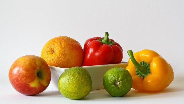 Fruits Vitamins Orange Healthy Food Apple